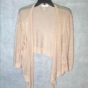 ❤️3/$20❤️DRESS BARN Tan Knit Cardigan sweater.